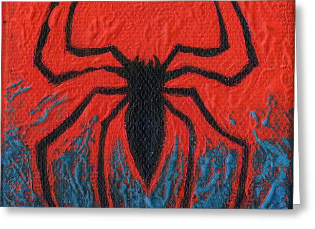 Comicbook Greeting Cards - The Spider Greeting Card by Arturo Vilmenay