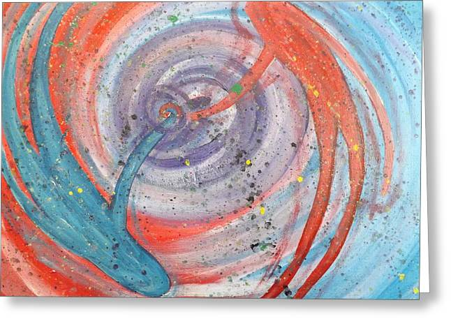 Spirtual Greeting Cards - The spiral Greeting Card by Emily  Niesen