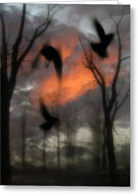 Gothicrow Greeting Cards - The Spirit Keepers Greeting Card by Gothicolors Donna Snyder
