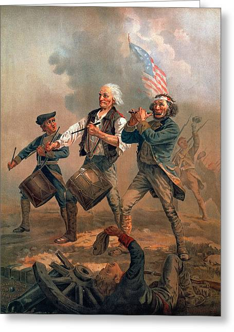 Minuteman Greeting Cards - The Spirit Of 76 Greeting Card by Granger