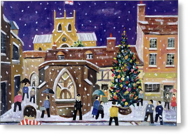 William Street Greeting Cards - The Spirit of Christmas Greeting Card by William Cooper