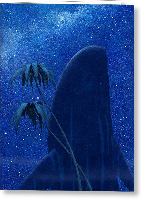 Sea Moon Full Moon Greeting Cards - The Spirit Of Dream Greeting Card by Dmitry Rezchikov