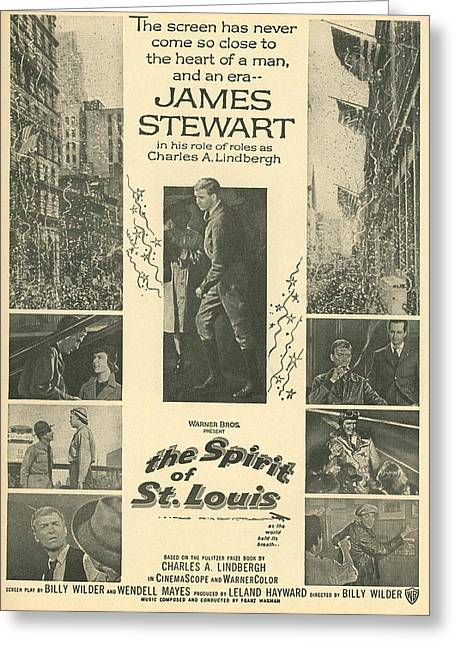 1957 Movies Photographs Greeting Cards - The Spirit of St Louis Greeting Card by Douglas Settle