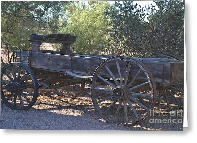 Wooden Wagons Mixed Media Greeting Cards - The SPIRIT of the OLD WEST Greeting Card by Beverly Guilliams