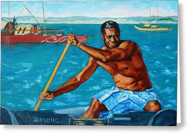 California Beach Art Greeting Cards - The Spirit of the Sea - Pacific Voyagers I Greeting Card by Xueling Zou