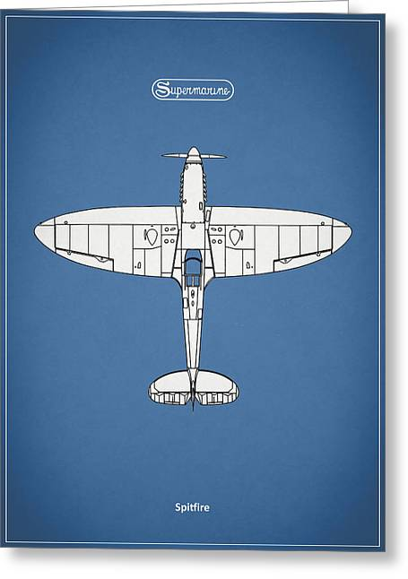 Spitfire Greeting Cards - The Spitfire Greeting Card by Mark Rogan