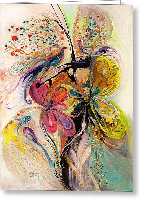 The Splash Of Life Series No 3 Greeting Card by Elena Kotliarker