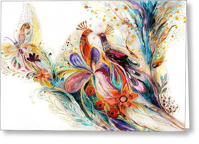The Splash Of Life Series Pure White No 1 Greeting Card by Elena Kotliarker