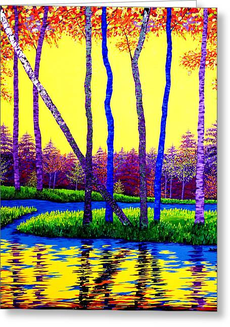 Fall Grass Paintings Greeting Cards - The Splendor of Nature Greeting Card by Randall Weidner