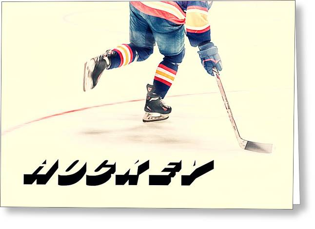The Sport Of Hockey Greeting Card by Karol Livote