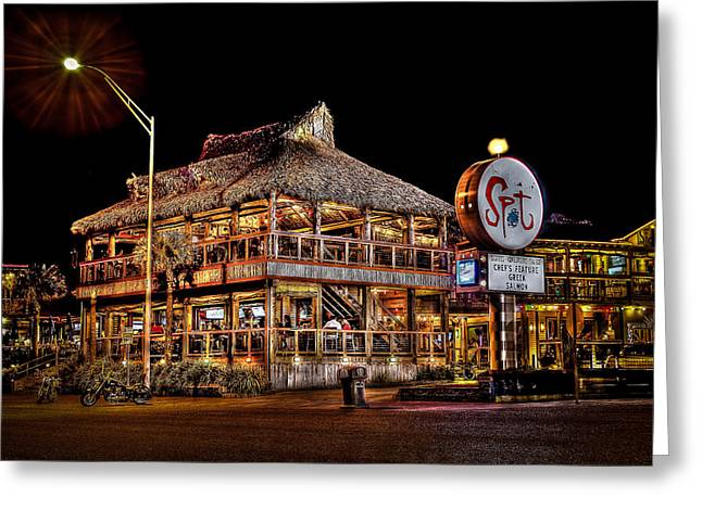 Galveston Greeting Cards - The Spot Greeting Card by David Morefield