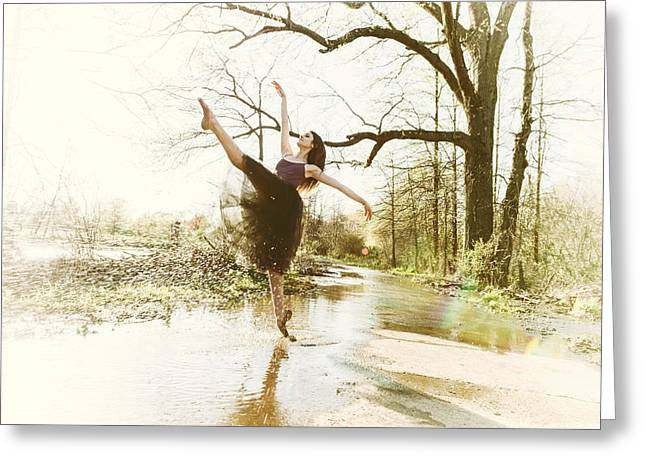 Ballet Dancers Photographs Greeting Cards - The Spray Greeting Card by Ryan Crane