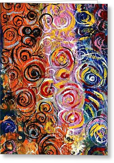 Abstract Rain Greeting Cards - The Spring Greeting Card by Mark Watson