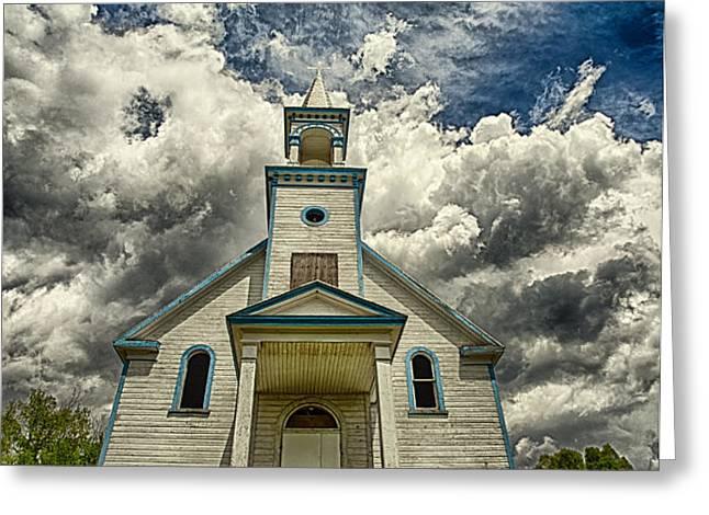 The Squaw Bay Church Greeting Card by Jakub Sisak