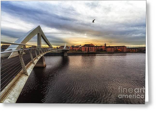 Bridge Greeting Cards - The squiggly Bridge Greeting Card by John Farnan
