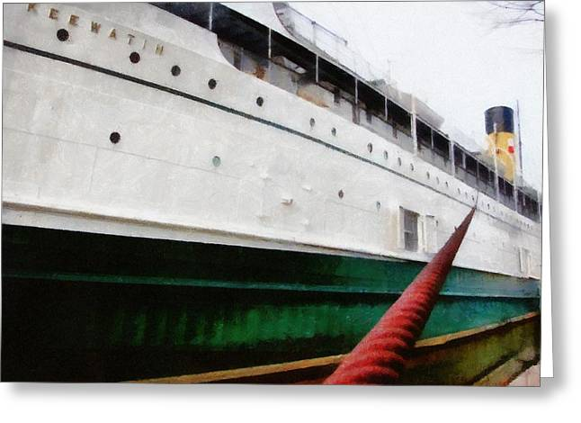 Passenger Ship Greeting Cards - The S.S. Keewatin Greeting Card by Michelle Calkins