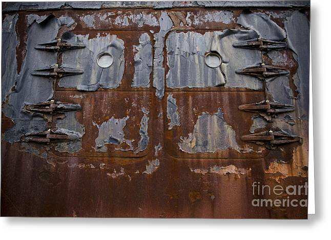 The S.s. United States Doors Greeting Card by Jessica Berlin