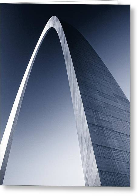 Arches Memorial Photography Greeting Cards - The St Louis Arch duotone Greeting Card by Garry McMichael