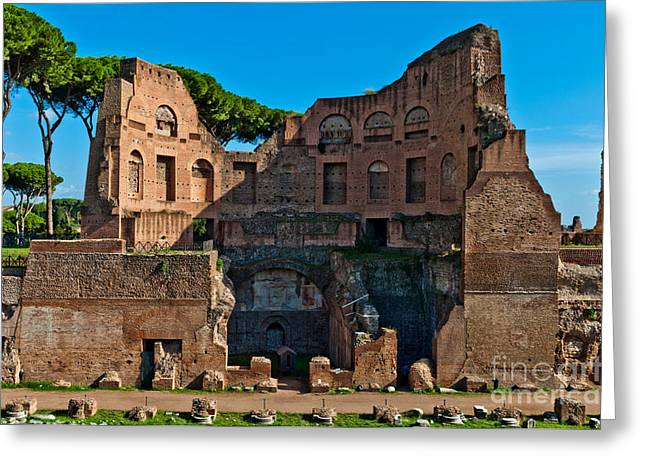 Domitian Greeting Cards - The Stadium of Domitian in Rome Greeting Card by Luis Alvarenga