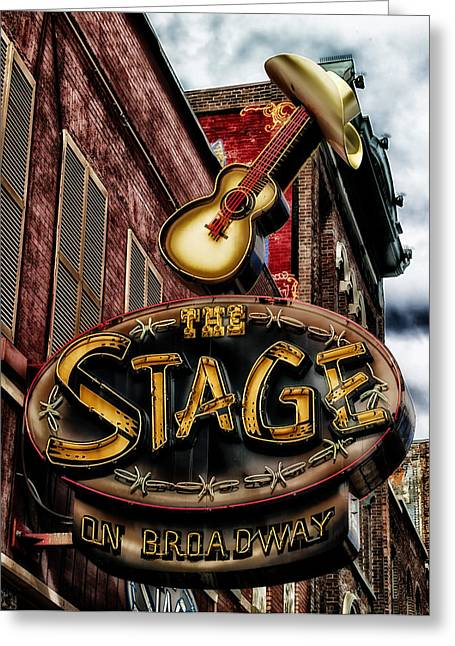 Live Music Greeting Cards - The Stage in Nashville Greeting Card by Mountain Dreams