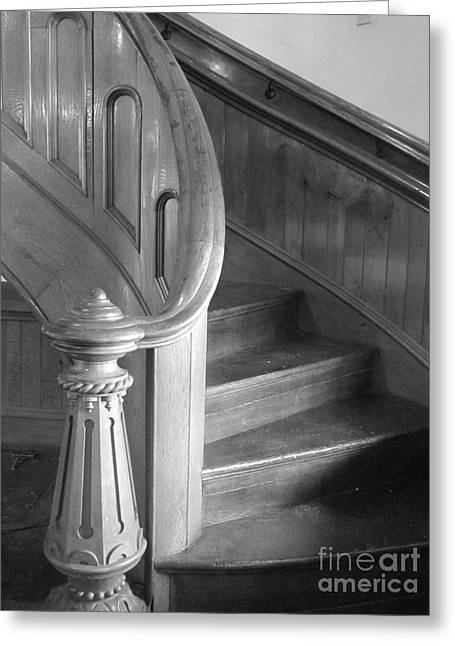 Wooden Stairs Greeting Cards - The Staircase Greeting Card by Barbara Bardzik