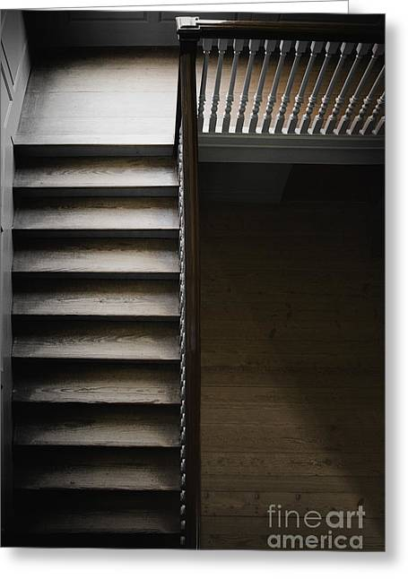 Wooden Stairs Greeting Cards - The Staircase Greeting Card by Margie Hurwich
