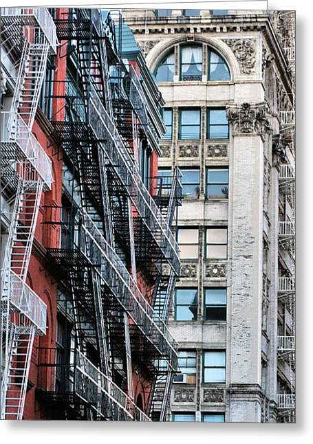 Urban Canyon Greeting Cards - The Stairmaster Greeting Card by JC Findley