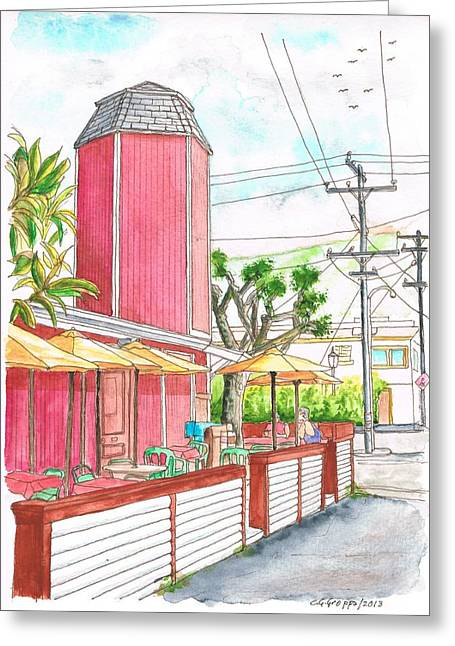 Architecrure Greeting Cards - The Stand Cafeteria in Laguna Beach - California Greeting Card by Carlos G Groppa