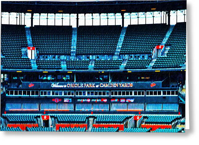 The Stands At Oriole Park Greeting Card by Bill Cannon