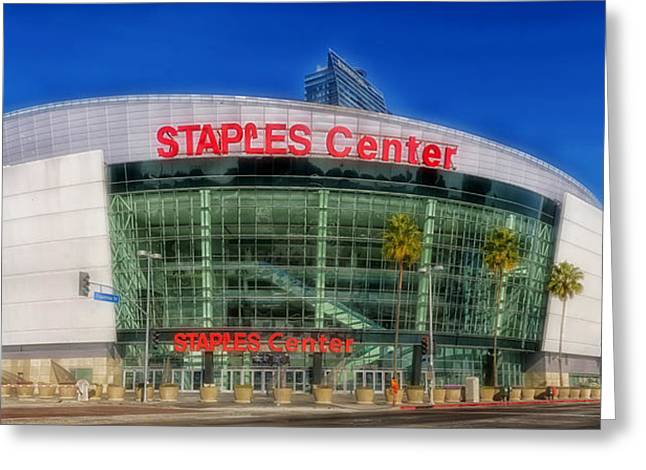 Staples Center Greeting Cards - The Staples Center Greeting Card by Mountain Dreams
