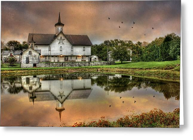 Photomatix Pro Greeting Cards - The Star Barn Greeting Card by Lori Deiter