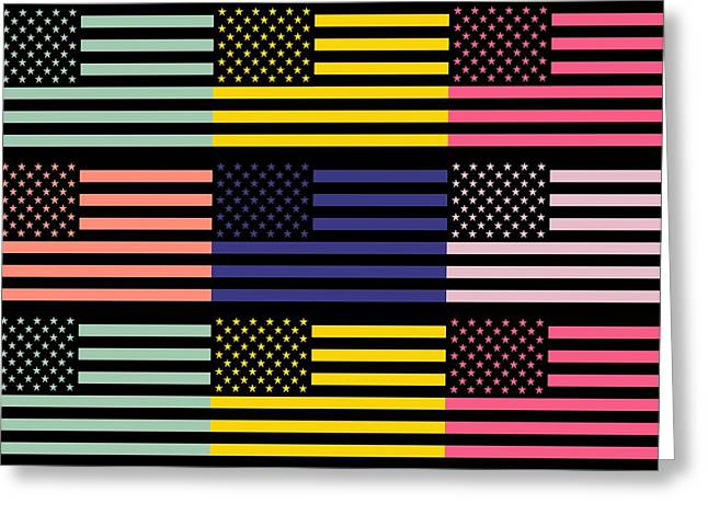 The star flag Greeting Card by Toppart Sweden