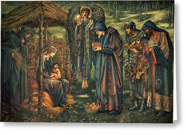 Star Of Bethlehem Greeting Cards - The Star of Bethlehem Greeting Card by Edward Burne-Jones