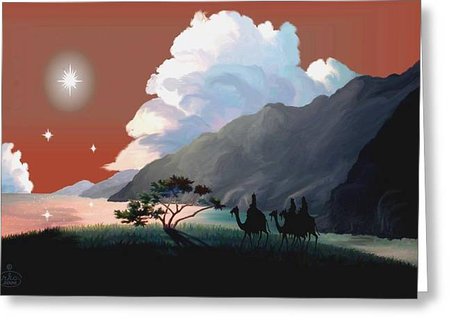 The Star Of Bethlehem Greeting Card by Ron Chambers