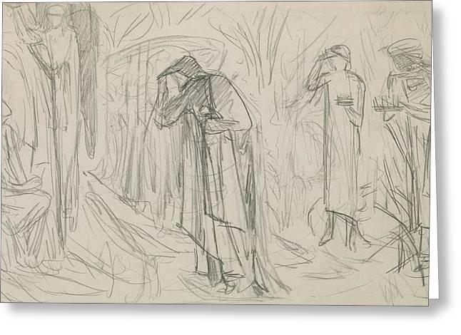Virgin Mary Drawings Greeting Cards - The Star of Bethlehem Greeting Card by Sir Edward Burne-Jones