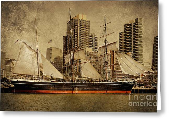 Sailing In San Diego Greeting Cards - The Star of India 1863 Greeting Card by MaryJane Armstrong