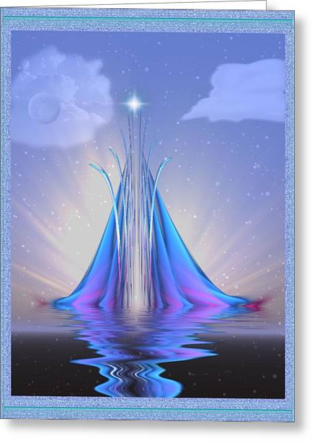 Mario Carini Greeting Cards - The Star of Lothlorien Greeting Card by Mario Carini