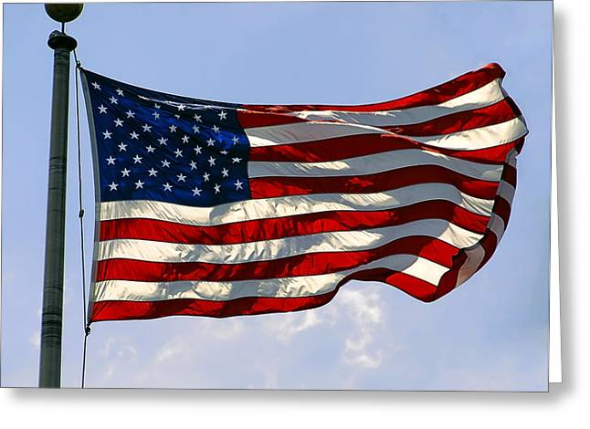 4th July Digital Art Greeting Cards - The Star Spangled Banner Greeting Card by Daniel Hagerman