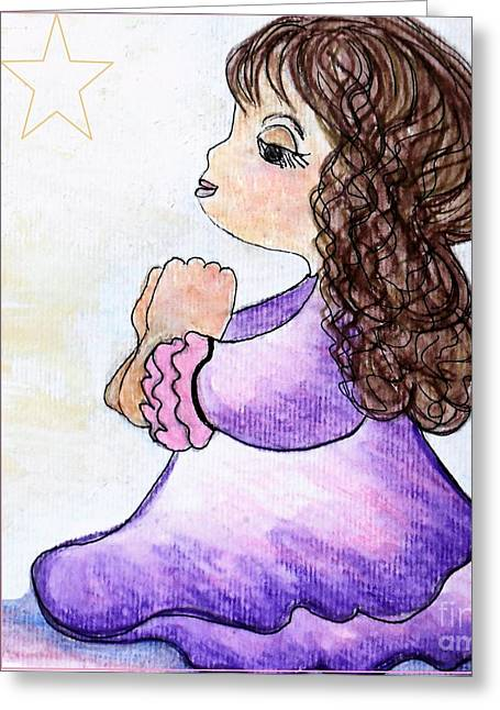 Baby Greeting Cards - The Star Still Shines Greeting Card by Eloise Schneider