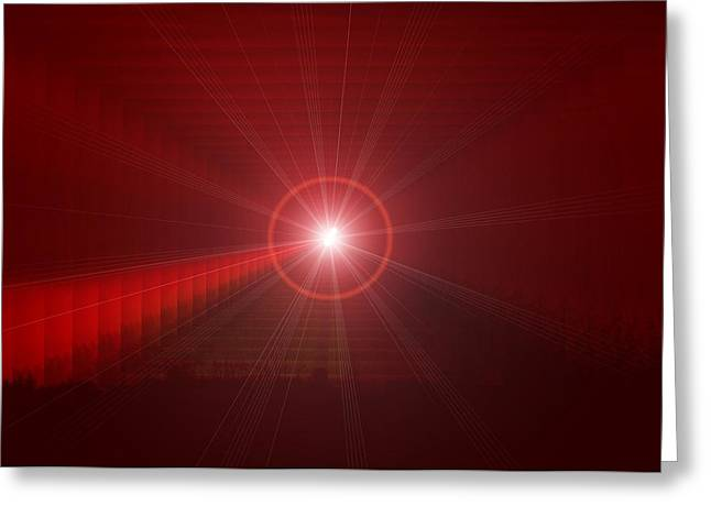 Abstract Digital Photographs Greeting Cards - The Star Tunnel Greeting Card by Jeff  Swan