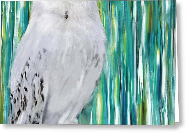 White Birds Greeting Cards - The Stare Greeting Card by Lourry Legarde
