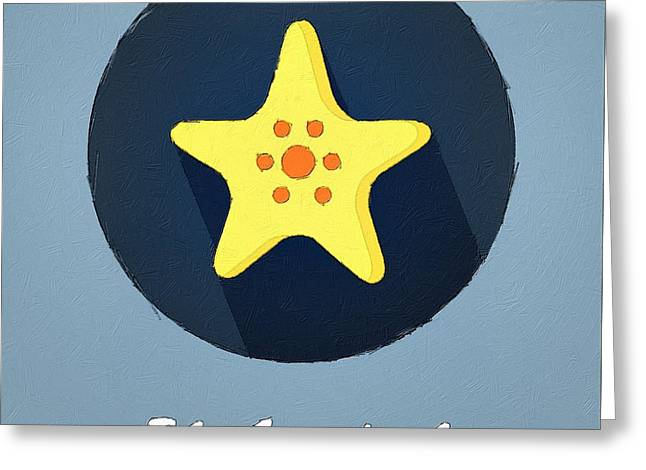 Starfish Posters Greeting Cards - The Starfish Cute Portrait Greeting Card by Florian Rodarte