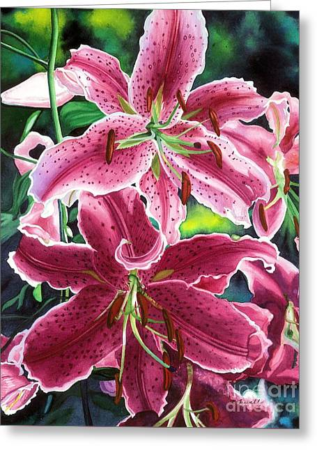 Barbara Paintings Greeting Cards - The Stargazers Greeting Card by Barbara Jewell