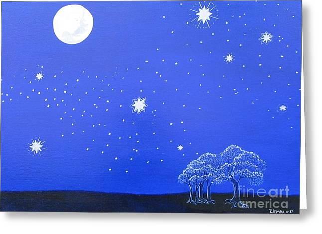 Lori Ziemba Greeting Cards - The Starry Night Greeting Card by Lori Ziemba