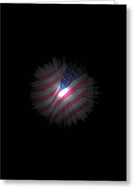 The Stars And Stripes Greeting Card by Jeff Swan