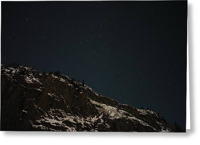 Winter Night Greeting Cards - The Stars In The Sky Greeting Card by Jeff  Swan