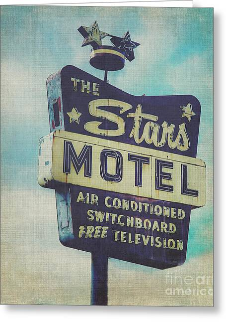 Seedy Greeting Cards - The Stars Motel in Chicago Greeting Card by Emily Enz