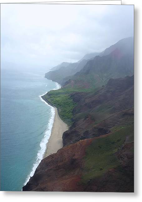 Exterioir Greeting Cards - The Starting of the Napali Coast  Greeting Card by Shaun Maclellan