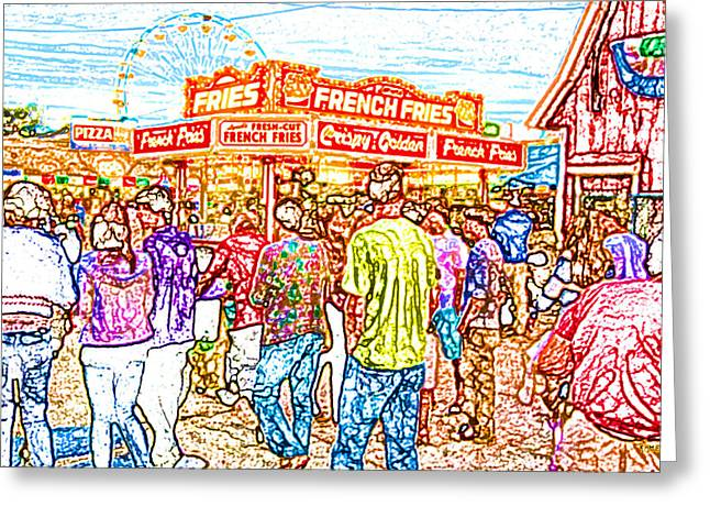 French Fries Digital Greeting Cards - The State Fair Greeting Card by David Schneider