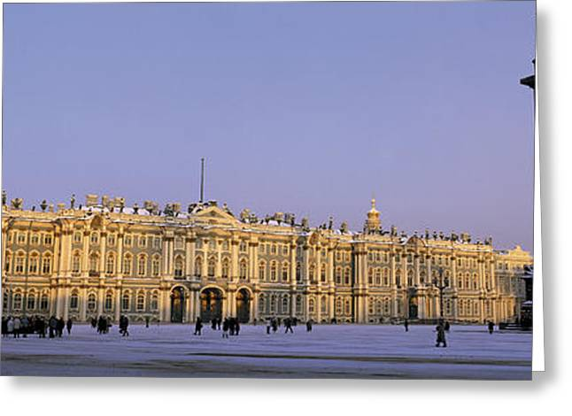 Eastern Europe Greeting Cards - The State Hermitage Museum St Greeting Card by Panoramic Images